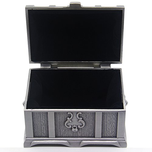 AVESON Small Rectangle Vintage Metal Jewelry Box Trinket Gift Box Chest Ring Case for Girls Ladies Women