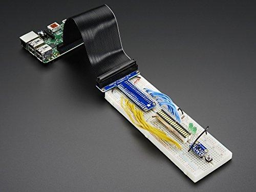 Adafruit Accessories Assembled Pi T-Cobbler Plus - GPIO Breakout for RasPi A+/B+/Pi 2 (1 piece) (Cobbler Adafruit B+)