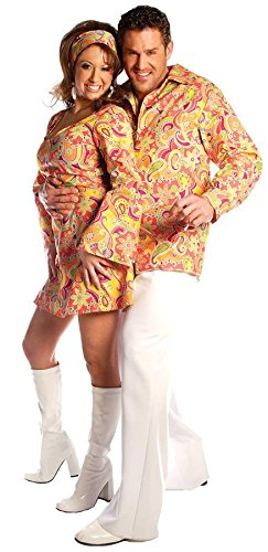 Groovy Shirt Adult Costume Orange - One Size