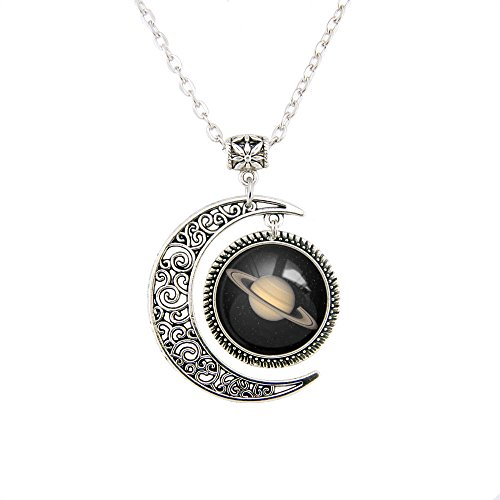 Moon jewelry SATURN Planet pendant necklace SATURN necklace SATURN Planet necklace Charm SATURN pendant