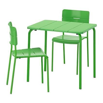 Tremendous Amazon Com Ikea Table 2 Chairs Outdoor Green 6204 2352 Ibusinesslaw Wood Chair Design Ideas Ibusinesslaworg