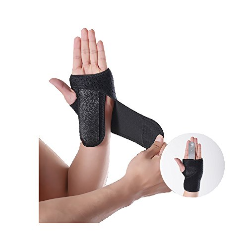 Wrist Brace Wrist Support Removable splint Martial Arts, Tennis, Bike, and Motorcycle, Prevention Wrist Injury, Carpal Tunnel Syndrome, Wrist Pain One size fits most -Black (Left)