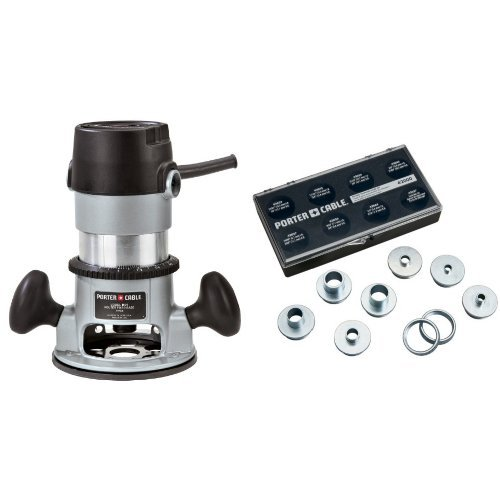 PORTER-CABLE 690LR 11-Amp Fixed-Base Router with 9-Piece Template Guide Kit