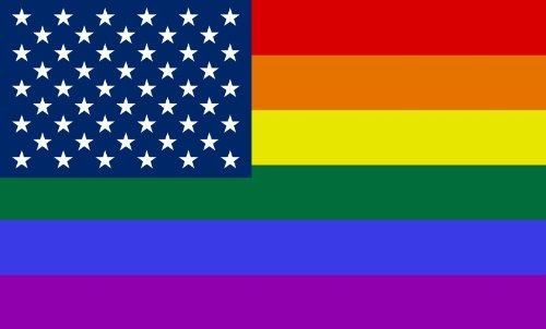 (Shoe String King SSK Gay USA - Stars Outdoor Flag - Large 3' x 5', Weather-Resistant Polyester)