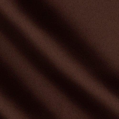 Ben Textiles Mi Amor Duchess Satin Chocolate Fabric by The Yard,