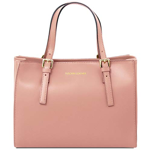 Leather Tuscany Ballet Pelle Mano Borsa In Pink A Aura dqnwTrvq