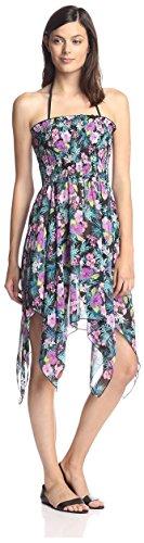 Bleu Rod Beattie Women's Island Time Cover-Up Dress, Blac...