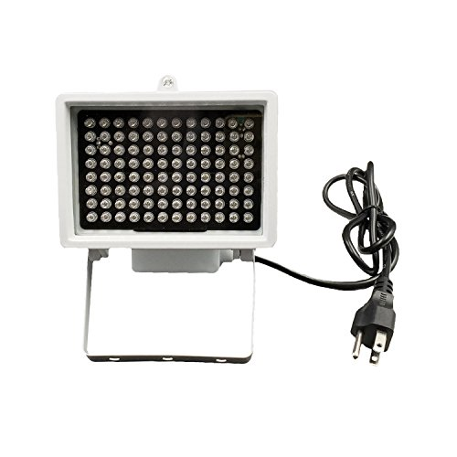 DMetric IR Illuminator, AC 110V - 220V 850nm Infrared 96 LED Night Vision Waterproof Lamp for Indoor Outdoor Security CCTV Camera, Long Range 80m (263 feet) and Wide Angle 60 Degree