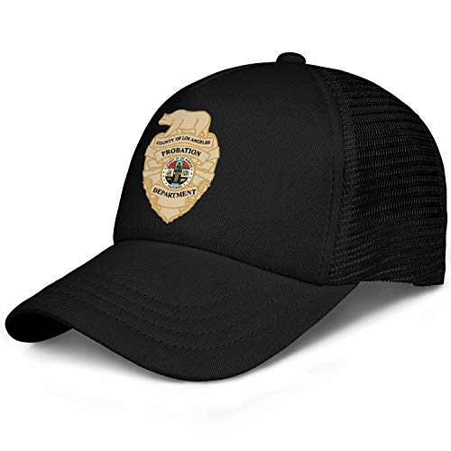 LuMaGG Girl's Los Angeles County Probation Department Baseball Cap Adjustable Strapback Dad Hat Sports