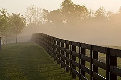Morning Mist & Fence, Kentucky 08 by Monte Nagler in a