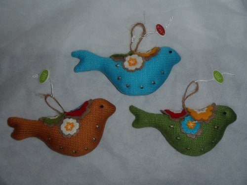 3 Handmade Partridge Ornaments North Pole Trading Company 2011 (North Pole Trading Co Ornaments compare prices)
