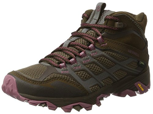 Merrell Boots Gore Hiking FST Women's TEX Moab Mid Brown Boulder Rise High w1qASfw