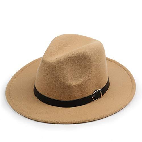 Women's Hat Design Women's Hat Fedora Hat for Laday Wide Brim Hats Jazz Church Cap Fedora Top Hat,3]()