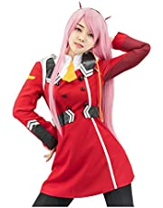 C-ZOFEK Darling in The FRANXX Zero Two Uniform Cosplay Red Costume