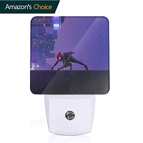 OriginalSun LED Night Light with Dusk-to-Dawn Sensor for Bedroom Miles Morales Spiderman