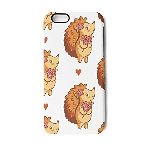 Proof Flowers Squirrel (YUEch iPhone 6 Plus Case iPhone 6S Plus hedgehog flowers TPU Shock-Absorption & Skid-proof Anti-Scratch Phone Case for Apple iPhone 6 Plus/iPhone 6S Plus)
