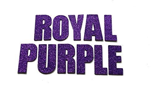 Amethyst / Royal Purple Metallic Glitter HandCut Chipboard Letters Alphabet set Sickers Impact 2