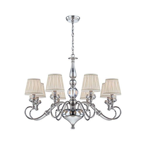 World Imports Lighting  25765 Sophia Collection 8-Light  Polished Nickel Chandelier - Sophia Collection Chandelier