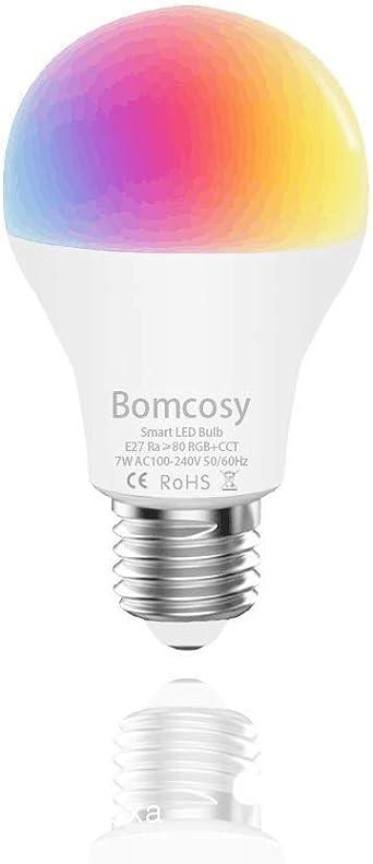 Bombilla LED Inteligente WiFi, 1 Pack 7W E27 Bombilla LED Luces ...
