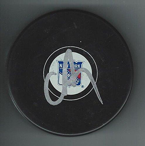 - Chris Drury Autographed Puck - Autographed NHL Pucks