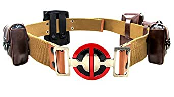 Deadpool Belt Full Set Buckle & Pouches Costume (Small)