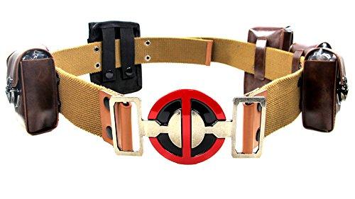 Deadpool Belt Full Set Buckle & Pouches Costume (L) ()
