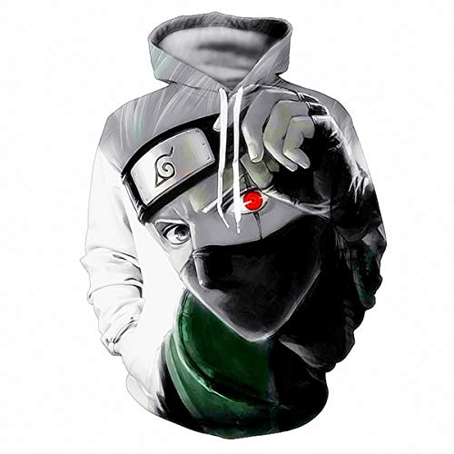 - CHENMA Men Naruto 3D Print Pullover Hoodie Sweatshirt With Kangaroo Pocket
