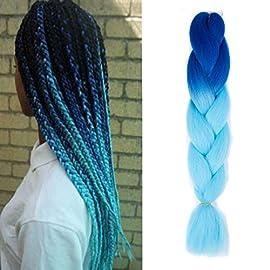 Jumbo Braiding Synthetic Hair Extensions Ombre Kanekalon African Braids High Temperature Fiber Twist Crochet Braids 24…