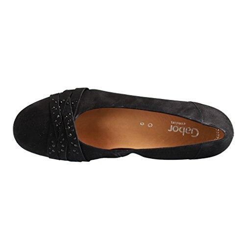 Gabor Comfort Damen Ballerina 42.634.47 negro negro
