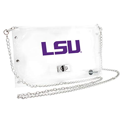 Littlearth Louisiana State Fightin Tigers  NCAA Envelope Purse, Clear  - 10 x 0.5 x 6.5 - Inch ()