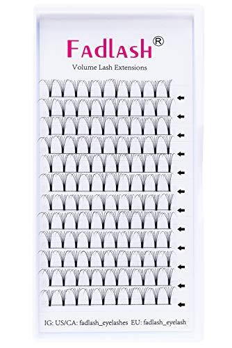 5D Lash Extensions C curl Mega Premade Volume Eyelash Extensions Supplies 0.10mm 15mm Individual Lashes Knot Free by FADLASH
