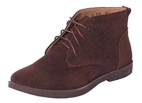 Serene Mens Leather Suede Classic Original Lace Up Short Ankle Desert Shoes Dress Chukka Boots (10.5 D(M)US, Brown)