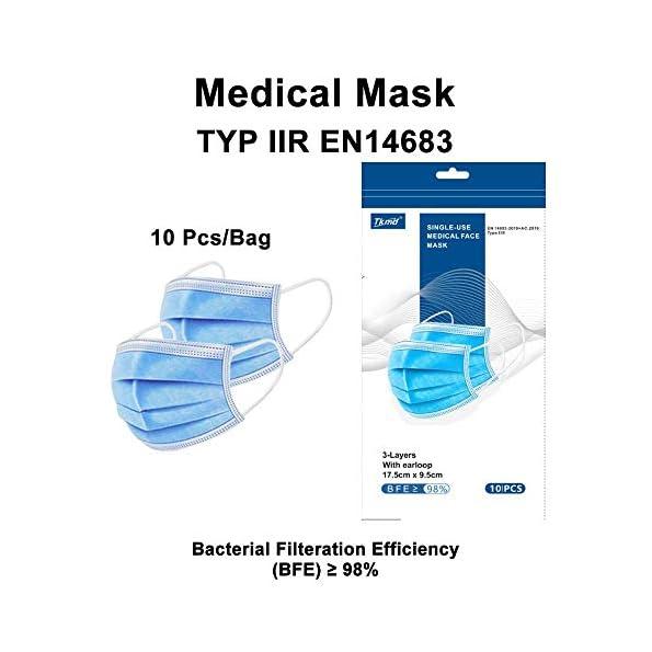 10X-Medizinische-Mundschutz-OP-Maske-Atemschutz-3-Lagig-TYP-IIR-BFE-98-Gesichtsmaske-MNS-Schutzmaske-Lager-in-Darmstadt-Blitzversand-Blau-10-StBeutel