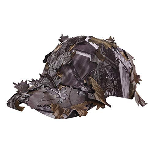 Tomppy Novelty Camo Hunting Hat for Women Men Bionic Leaf Jungle Cap Tactical Military Sun Hats (B)