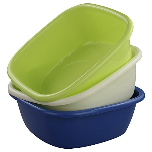 - Doryh Square Small Wash Basins, 8-Quart, Set of 3
