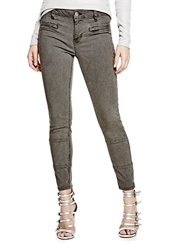 GUESS Women's almondine Overdye Wash Skinny Jeans (24, Lead Pipe) by GUESS (Image #1)