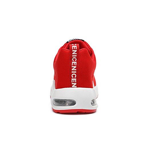 Rot Schuhe Top Fitness Mesh Gr 40 Leicht Sneaker Laufschuhe Turnschuhe Sommerschuhe Sportschuhe Rot Freizeitschuhe Schwarz Atmungsaktives Rosa Gym 35 Damen Running Violett Low Sneaker Casual q7P7Uat