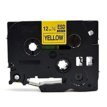 1x TZe631 TZ631 Schwarz auf Gelb Schriftband für Brother P-Touch PT-2600 12mm