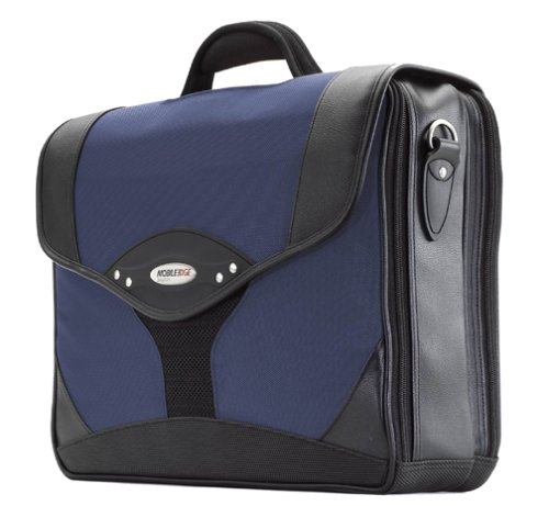 - Mobile Edge Navy/Black Premium Laptop Briefcase 15.6 Inch PC, 17 Inch Mac, SafetyCell Computer Protection Compartment, Gel-eGrip Comfort Handle, for Men, Women, Business, Students MEBCP3