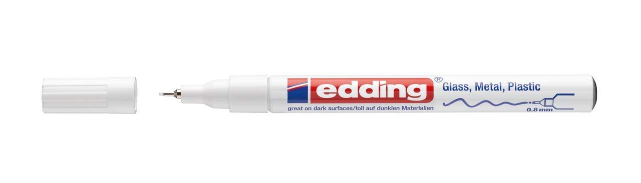 color blanco /Rotulador Edding 750/ color wei/ß 2er Pack la Industria, 2//–/4/mm