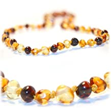The Art of CureTM Multi-Colored Baltic Amber Mens/Womens Adult Healing Necklace 17 Inches- w/The Art of CureTM Jewelry Pouch
