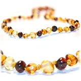 The Art of Cure Original Premium Baltic Amber Teething Necklace (mixed colors) - 12.5 Inches