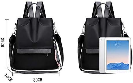 Rucksäcke - (30cm * 29cm * 14cm) mit hohen Kapazität Multifunktionshandtasche, Wearable Polyester Oxford-Beutel, stilvoller und Casual Damen Schwarz Rucksäcke Lässige Rucksäcke