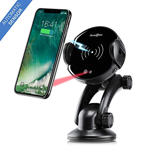 Wireless car Charger  qi car Charger Mount  one-Touch Automatic Wireless Charger Phone Holder  qi air Vent Phone Mount for iPhone X 8 8 Plus Samsung S9 S9 Plus S8 S8 Plus note8 Qi-Enabled Devices