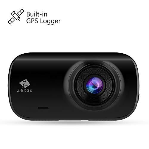 Z-EDGE Z3G Dash Cam, 2560x1440P 30fps Quad HD Car Dash Camera with GPS Logging, 2.7-Inch Screen, WDR, Low Light Vision, Parking Mode, G-Sensor, Auto Record, Support up to 128GB
