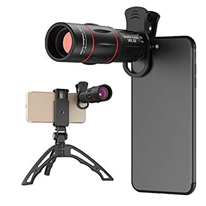 18x Smartphone Telephoto Lens With Tripod Cell Phone Camera Zoom Lens Kit For Iphone 7 8 X 6s Plus Samsung S8 S9 Most Android Cell Phone