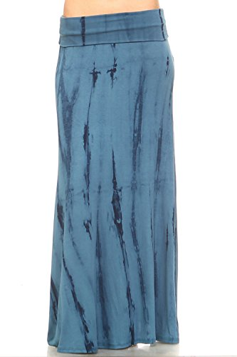 plus size tie dye maxi skirt - 4