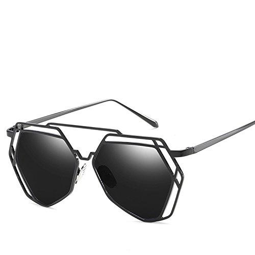 Polygonal Sunglasses Universal Influx Of People's Sunglasses,Golden Box Barbie ()