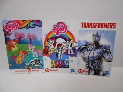 Transformers My Little Pony Limited Issued Target Card Set