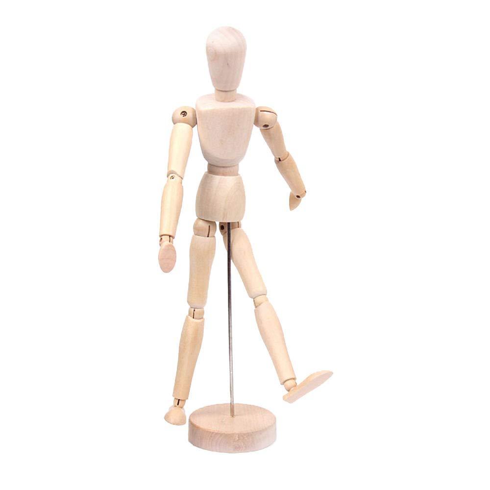 Art Mannequin Articulated Artist Manikin Figure Solid Wood,3# Merssavo Wooden Manikin Jointed Doll Model